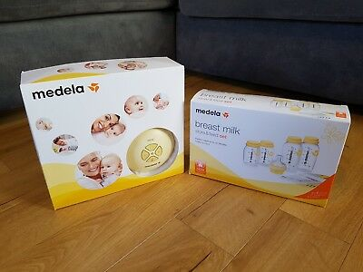 Medela swing electric breast pump with unopened store and feed set.