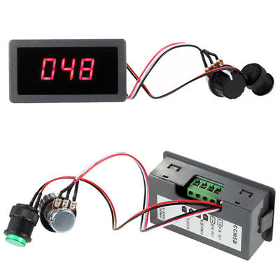 DC 6-30V 12V 24V voltage Motor PWM Speed Controller W/ Digital Display & Switch