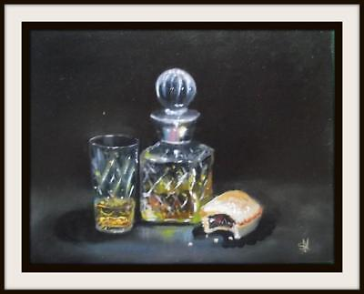 The Whisky Treat :  Original Oil Painting by Susan Ballantyne - Mortimer