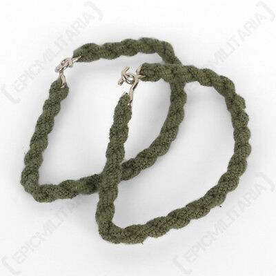 Olive Green Trousers Twists - Twisties Elastic Army Cadets Military Pack of 2
