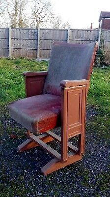 vintage art deco cinema seat cast iron repair restoration shabby chic