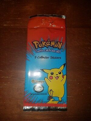 New! Sealed Pack Pokemon Collector Stickers by Sandylion