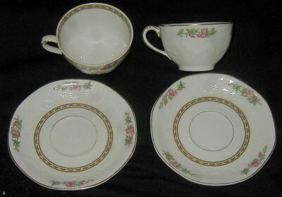 2 Vintage J & G Meakin China Tea Cup, Saucer Sets, Indian Tree, Siam Pattern