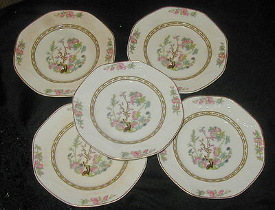 5 Old J & G Meakin English China Bread Plates, Indian Tree, Siam Pattern