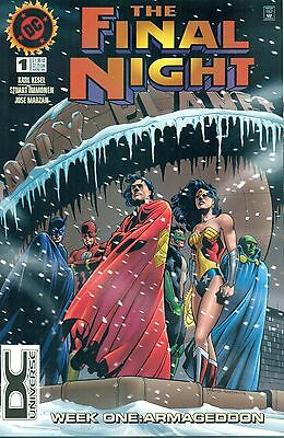 The Final Night #1 Batman Superman Rare DC Universe Logo Variant JLA NM/M 1996