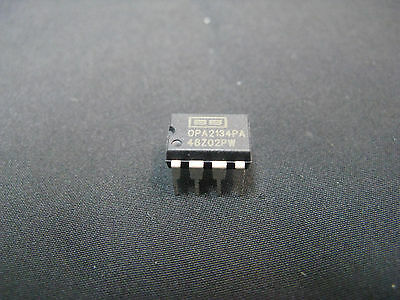 Qty 2:texas Instruments Burr Brown Opa2134 Dual Channel Opamp, High Performance!