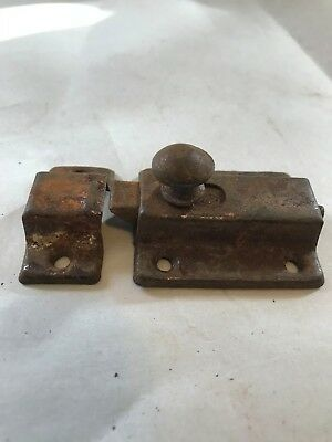 1 Old Shabby Chippy Chic Steel Primitive Cabinet Cupboard Door Latch Lock Catch