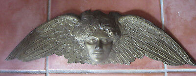 Cast Metal Gold CHERUB ANGEL Hollywood Regency Mirror or Door Topper
