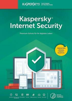 Kaspersky Internet Security 2018 5PC Geräte 1Jahr Vollversion ESD  DE-Lizenz