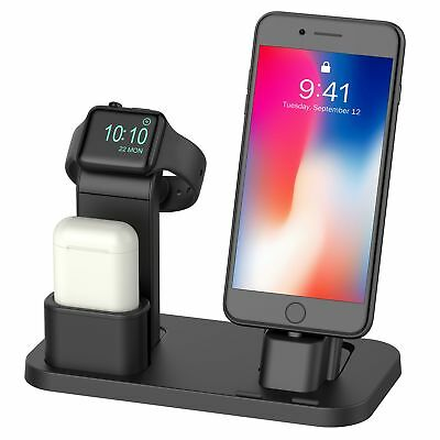 Apple Watch 3/2/1 Stand iPhone X/8/8 Plus Charging Dock Station AirPods Holder