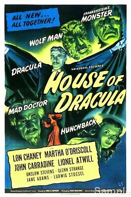 Son of Dracula Lon Chaney Horror movie poster print #4