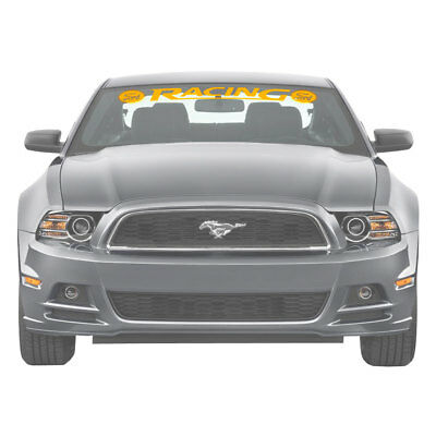 Graphic Express N895-YE Mustang Windshield Banner Ford Racing Yellow