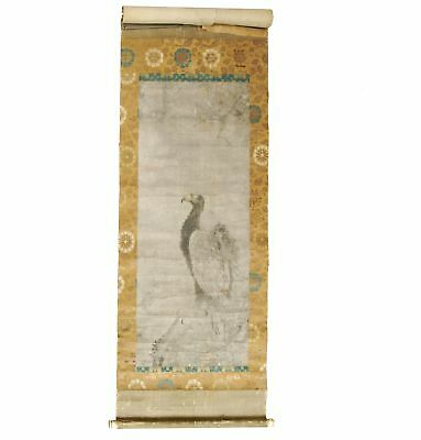 Early fine, large, and naturalistic Japanese Muromachi period scroll painting