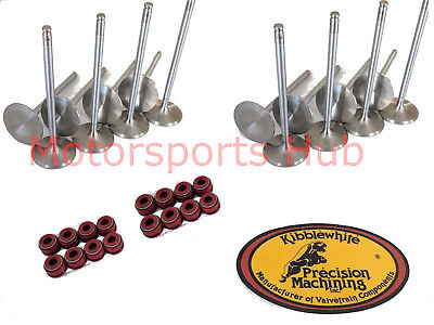 Kibblewhite Head +1mm +1 Intake Exhaust Race Valves Suzuki GSXR GSX-R 1100 93-98