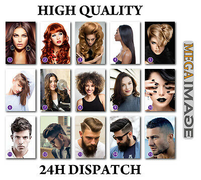 Hairdresser Barber Hair Salon, Hairstyle Poster Print, A4/ A3/ A2/ A1