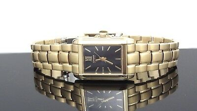 Citizen Eco-Drive Sapphire Crystal Black Dial Gold Tone St. Steel Women's Watch