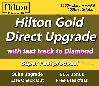 Hilton Honors Diamond membership (Fastest process, fast track to Mar 2021)