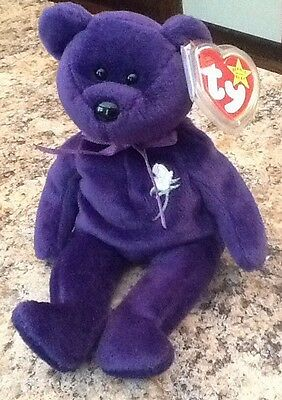 RETIRED Ty Beanie Baby PRINCESS Diana 1997 Bear RARE GASPORT and date ERRORS