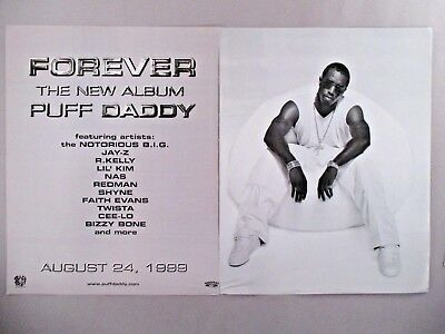 """P. Diddy (Puff Daddy) """"Forever"""" Album Release Double-Page PRINT AD - 1999"""