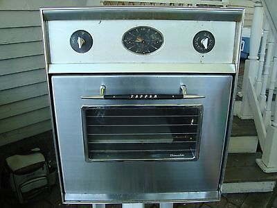 1959 Tappan Visualite Electric Oven Vintage Chrome Metal Kitchen Appliance NICE
