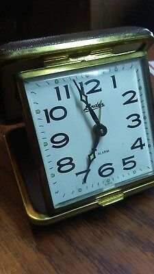 Vintage Linden Travel Alarm Clock Free Shipping