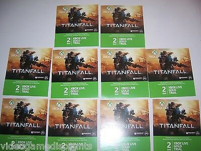 Qty 20 - Xbox Live 2 Day 48 Hour Gold Trial Membership Cards-Trusted Usa Seller