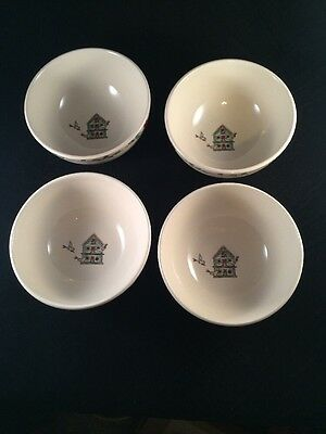 Birdhouse bowls from Thompson pottery Set Of 4