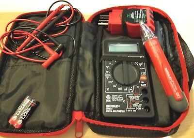 Voltage Pro Electrical Tester Kit With Storage Case