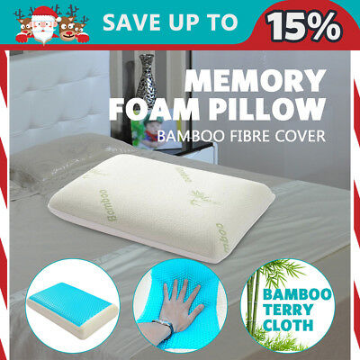 High Density Memory Foam Bamboo Fabric Fibre Cover Standard Pillow Cooling Gel