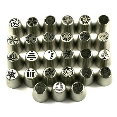 Hot 1~27Pcs New Rose Flower Pattern Icing Russian Piping Tip Nozzle Pastry Tools
