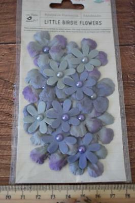 Pearl Gypsie 20pcs Little Birdie Handmade Paper Flowers Scrapbooking Mixed Media