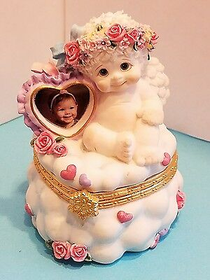 "DREAMSICLES  10629 ""Dear To My Heart"" 1998 Trinket Box 4"" x 2 3/4"" Cast Art"