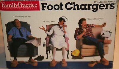 Family Practice Foot Chargers Vibrating Dry Massage System w/Heat NEW