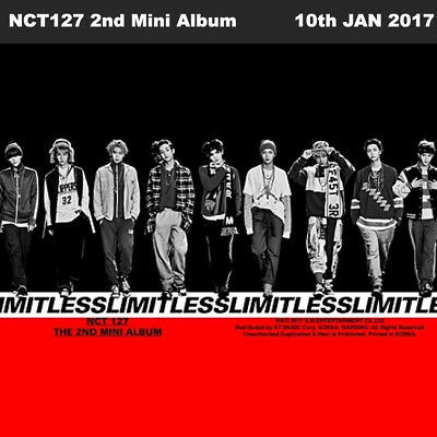 NCT127 NCT #127 LIMITLESS 2nd Mini Album Random Ver. CD+Photo Book+Card+Etc KPOP
