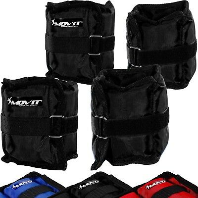 MOVIT Set of 4 Adjustable Wrist and Ankle Weights 2 x 500g (110 lb) and 2 x 1...