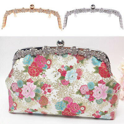 Silver Gold Purse Bag Metal Frame Kiss Clasp Lock Clip Bags Making DIY Craft
