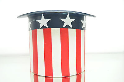 Vintage Uncle Sam Ice Bucket Top Hat Red White and Blue Ice Bucket 4th of July