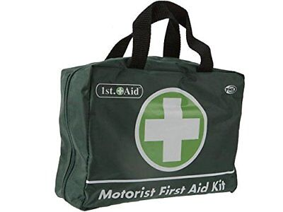 Jumbo Deluxe Motorists Medical First Aid Kit 70 Piece Complete Green 1st Aid in