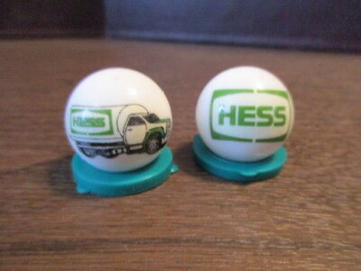 2 HESS -TRUCK - Oil & Gas - LOGO COLLECTOR MARBLE - White Glass
