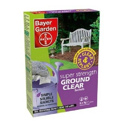 Bayer Super Strength Ground Clear 6pk Strong Glyphosate Weedkiller treats 150m2