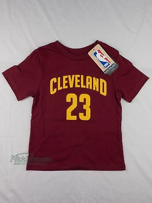 NEW Cleveland Cavaliers LeBron James Kid's Name and Number T-Shirt