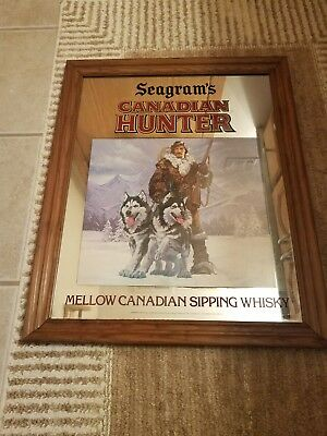 Seagram's Canadian Hunter Mirror Sign Man Cave Beer Sign New In Box