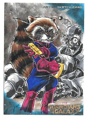 2014 Upper Deck Guardians of the Galaxy 5x7 Oversized Sketch Artist Vince Sunico