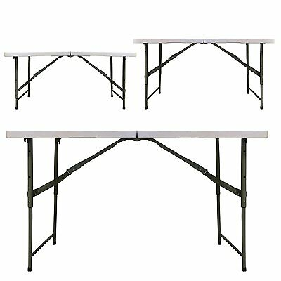 10 Of 12 Redstone 4ft Folding Trestle Table   3 Adjustable Heights   Extra  Strong Support