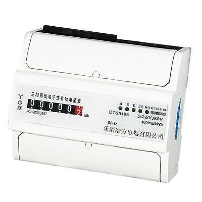 3 Phase 4 Wire DIN Rail Power kWh Energy Sub Meter 20(80)A Remote Control