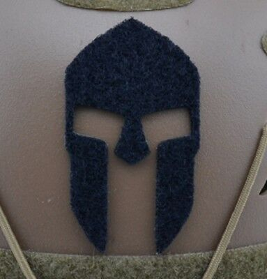 Adhesive laser cut Helmet SPARTAN Helm Patch klett Hook loop patch