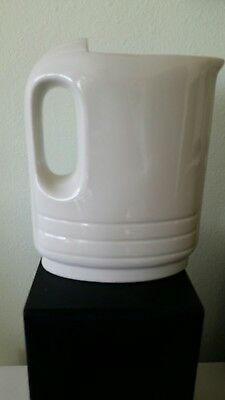 Vintage Hall 5085 Water Pitcher Vase White Refrigerator No Lid Art Deco
