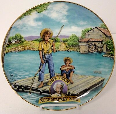 """ HUCKLEBERRY FINN "" First Issue  "" AMERICAN CLASSICS ""  Collector Plate"