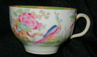 OLD ROYAL DOULTON ENGLISH HAND PAINTED TEA CUP w BIRD, FLOWERS, ASIAN THEME