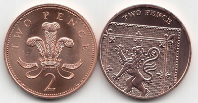 2p Two Pence Coins English Decimal Collectable Currency